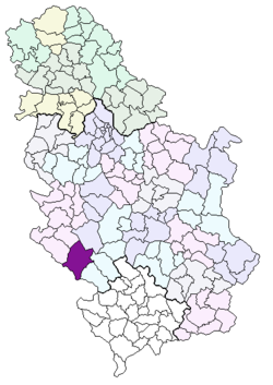 mapa srbije sjenica Sjenica (općina)   Wikipedia mapa srbije sjenica