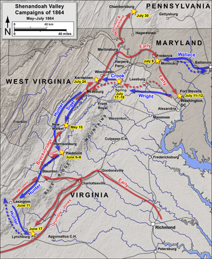Valley Campaigns of 1864 - Image: Shenandoah Valley May July 1864