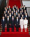 Shinzo Abe Yoshihide Suga Koichi Hagiuda Hiroshige Seko Kazuhiro Sugita and Parliamentary Secretaries 20151009 1.jpg