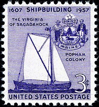 Virginia (pinnace) - Image: Shipbuilding 1957 issue 3c
