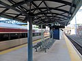 Shore Line East train at New Haven State Street station, May 2013.JPG