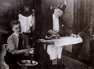 Billy Bletcher - Billy Bletcher (left) and Bobby Vernon in Short and Snappy (1921)