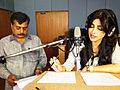 Shruti Haasan - TeachAIDS Recording Session (13567159274).jpg