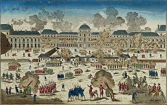 1792 in France - Storming of the Tuileries in August  (musée de la Révolution française).