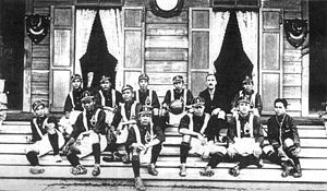 Thailand national football team - Members of the very first Thailand national team squad.
