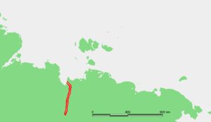 Omoloy River - Location of the Omoloy River in Siberia