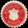 Siegelmarke Bürgermeister - Amt - Bacharach W0219341.jpg