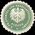 Siegelmarke Königlich - Preussisches Stempel - und Erbschaftssteueramt Altona W0210586.jpg