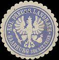 Siegelmarke K.Pr. Landrath Saarburg Reg. Bezirk Trier W0385441.jpg