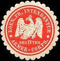 Siegelmarke Koeniglich Preussische Intendantur des IVten Armee - Corps W0238320.jpg