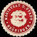 Siegelmarke Magistrat der Stadt - Gröningen W0216860.jpg