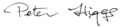 Signature of British physicist Peter Higgs.png