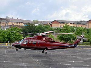 Sikorsky S-76C+ G-XXEA taking off with prince Charles on board.JPG