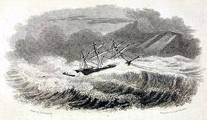 HMS Griper (1813) - Image: Situation of hms griper on Sept 1, 1824