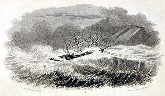 HMS Griper (1813) - Situation of HMS Griper, Sept 1, 1824