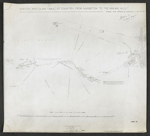 600px sketch map %28plane table%29 of country from %22ngabotok to the nakwai hills%22 %28womat afr bea 227 1 1%29