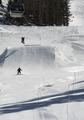 Skiers on mountain, Mammoth Lakes, California LCCN2013633738.tif