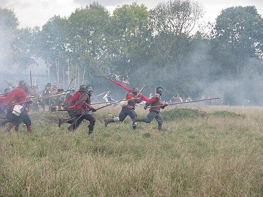 Slag om Grolle 2008-1 - Spaanse piekeniers doen een charge