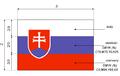 Slowacja flaga wymiary.png