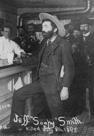 Soapy Smith - Smith at bar in Skagway, Alaska, 1898