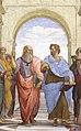 Socrates and Plato Socrates y Platon, Escuela de Atenas, Raffae.jpg