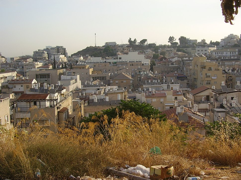 Sokolov hill, Bnei Brak, view from Har Shalom