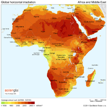 Solar Radiation in Africa and Middle East