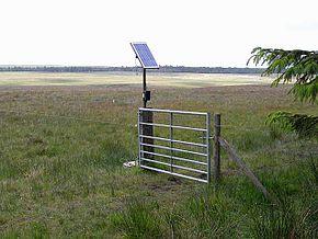 Solar powered electric fence, Catcherside North Plantation - geograph.org.uk - 1355104
