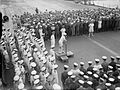 Somerville congratulates Ark Royal company IWM A 5823.jpg