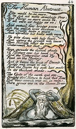 Songs of Innocence and of Experience, copy L, 1795 (Yale Center for British Art) The Human Abstract.jpg