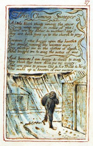 Songs of Innocence and of Experience, copy Z, 1826 (Library of Congress) object 37 The Chimney Sweeper.jpg