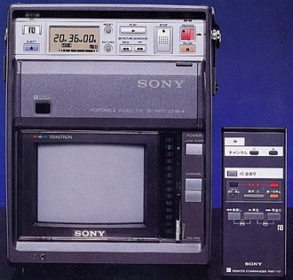 Betamax - A rare Japanese market Betamax TV/VCR combo, the Model SL-MV1.