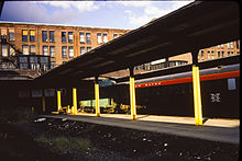 Park Street Station on Boston Common where the Red Line and Green Line  intersect