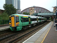Southern Class 377 at West Brompton