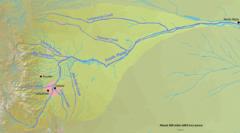 Denver en un mapa del río Platte del Norte