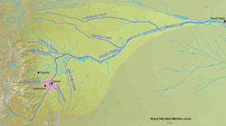 Mapa do rio South Platte