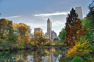Central Park - Image: Southwest corner of Central Park, looking east, NYC