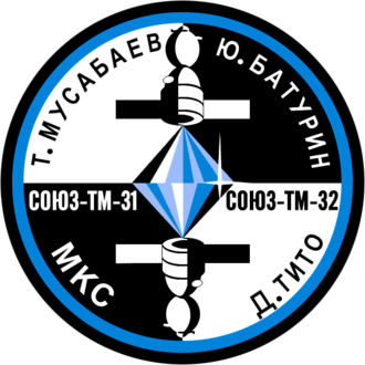 Yuri Baturin - Image: Soyuz TM 32 patch