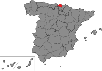 Biscay (Congress of Deputies constituency) - Location of Biscay within Spain