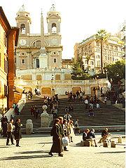 Spanish Steps & Trinita dei Monti from Piazza di Spagna Rome