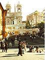 Spanish Steps & Trinita dei Monti from Piazza di Spagna Rome.jpg