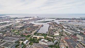 Severnaya Verf - Aerial view of the Northern Shipyard