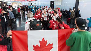 2017 Special Olympics World Winter Games - Image: Special Olympics World Winter Games 2017 arrivals Vienna Canada 01