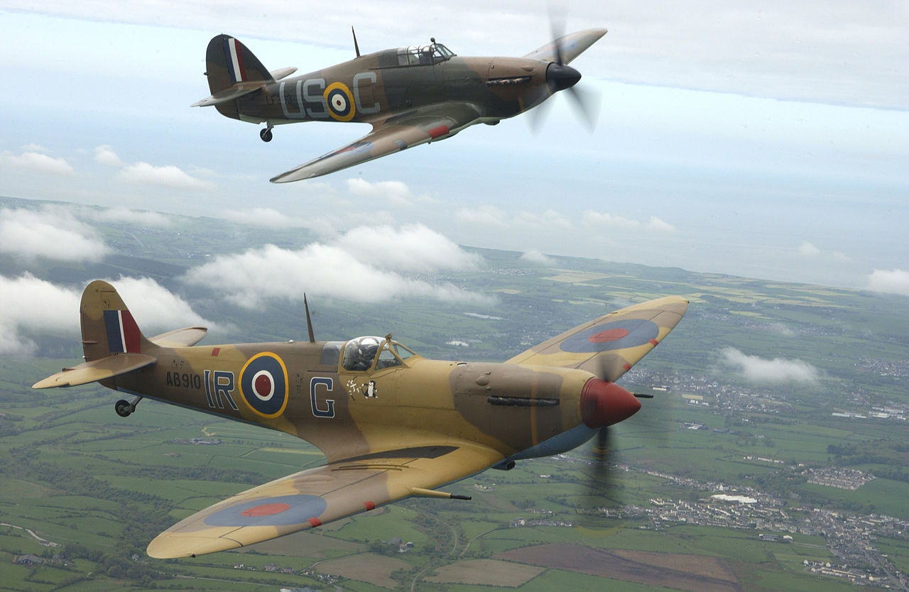 filespitfire and hurricane in the battle of britain