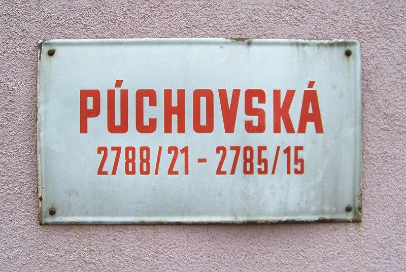 File:Spořilov, Púchovská, označení domu.jpg