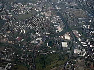 Springburn - Image: Springburn from the air (geograph 5374097)