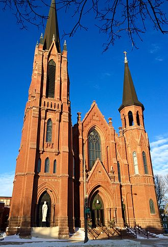 St. Augustine's Church (Austin, Minnesota) - Image: St. Augustine Church east exterior (Austin, Minnesota)