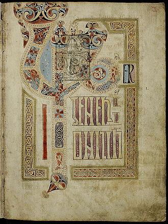 St. Gall Gospel Book - Image: St. Gall Gospels Cod.Sang.51 p.3 Li Ber gener a ti onis Jh