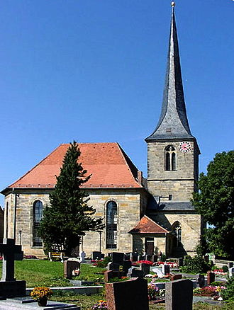 Eckersdorf - St. Ägidius church was built in 1791 and the forester's house Oberwaiz in 1776.