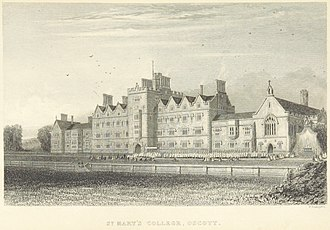 St Mary's College, Oscott - St Mary's College, 1839